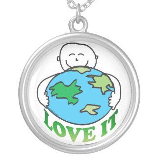 Amor del Día de la Tierra la tierra Joyerías