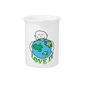 Amor del Día de la Tierra la tierra Jarron