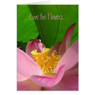 Amor del Día de la Tierra las flores Lotus Tarjeta De Felicitación