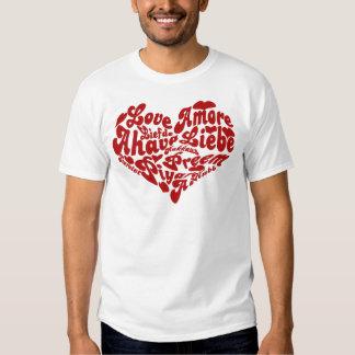 Amor del día de San Valentín todas las palabras Remeras