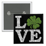 AMOR del día del St Patricks con el trébol irlandé Pin