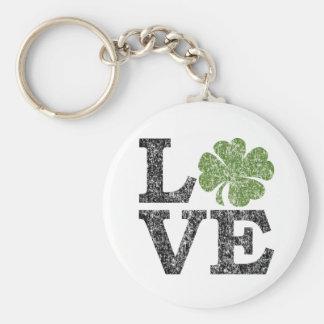 AMOR del día del St Patricks con el trébol Llaveros