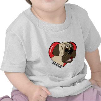 Amor del dibujo animado I mi camiseta de