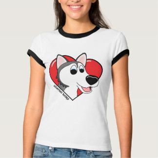 Amor del dibujo animado I mis señoras del husky Playera