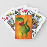 Amor del dinosaurio de RAWR Baraja Cartas De Poker