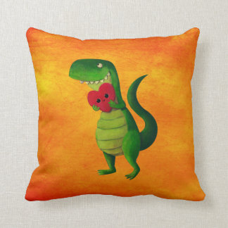 Amor del dinosaurio de RAWR Cojín