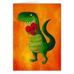 Amor del dinosaurio de RAWR Felicitacion