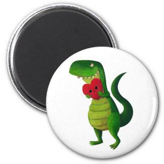 Amor del dinosaurio de RAWR Imán Redondo 5 Cm