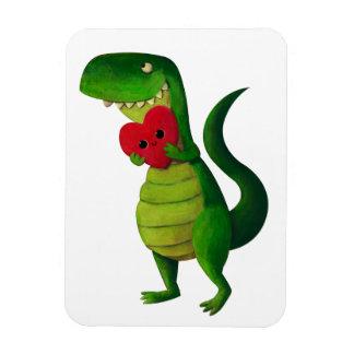 Amor del dinosaurio de RAWR Imán Foto Rectangular