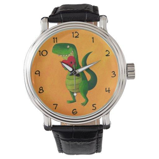 Amor del dinosaurio de RAWR Reloj