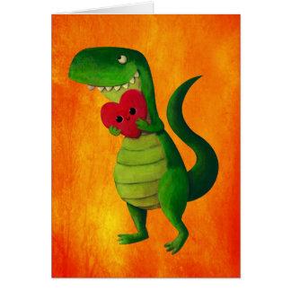 Amor del dinosaurio de RAWR Tarjeta De Felicitación