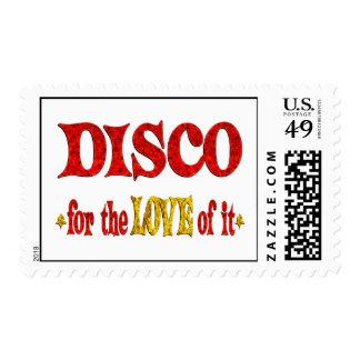 Amor del disco timbres postales