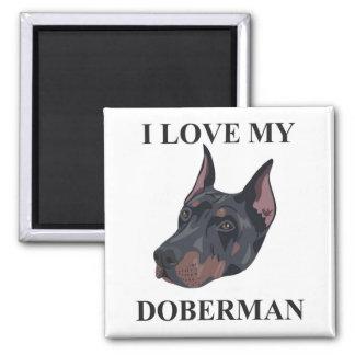 Amor del Doberman Imán Para Frigorifico