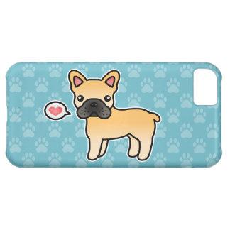 Amor del dogo francés del dibujo animado del funda para iPhone 5C