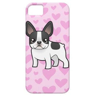 Amor del dogo francés iPhone 5 carcasa