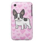 Amor del dogo francés iPhone 3 protector