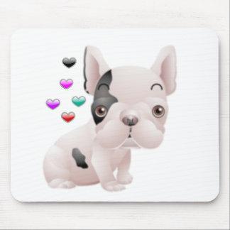 Amor del dogo francés tapete de raton