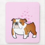 Amor del dogo mouse pads