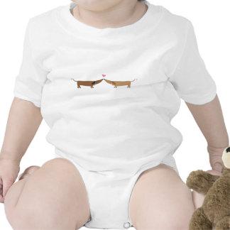 amor del doxie traje de bebé