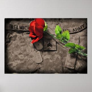 amor del ejército póster