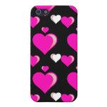 Amor del el día de San Valentín de los corazones d iPhone 5 Fundas