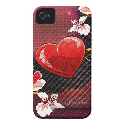 Amor del el día de San Valentín Case-Mate iPhone 4 Carcasa