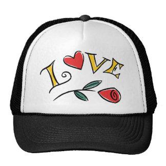 Amor del el día de San Valentín Gorras