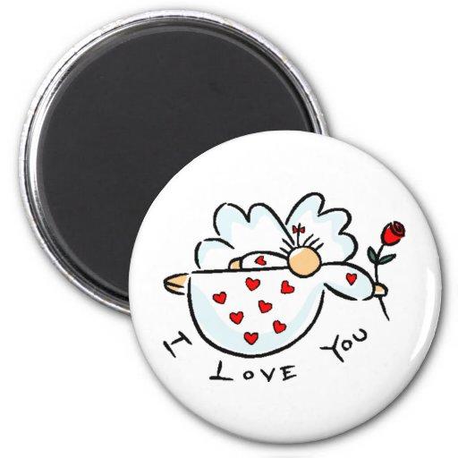 Amor del el día de San Valentín Imán Redondo 5 Cm