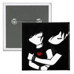 amor del emo pin cuadrada 5 cm