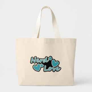 Amor del empollón bolsa de mano