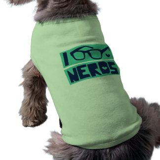 Amor del empollón camisetas de perro