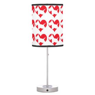 Amor del escocés lámpara de mesilla de noche