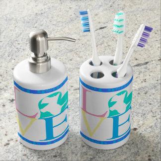 Amor del escocés vaso para cepillos de dientes