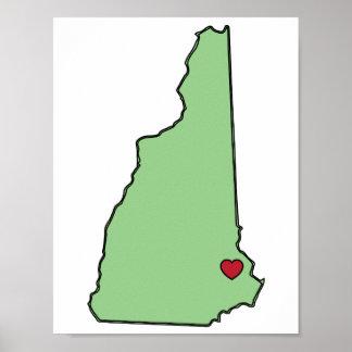 Amor del estado de New Hampshire Póster