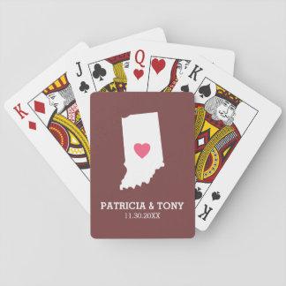Amor del estado de origen de Indiana con el Baraja De Póquer