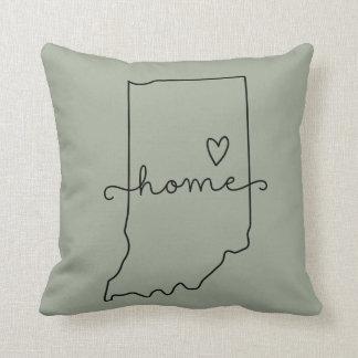 Amor del estado de origen de Indiana, corazón de Cojín