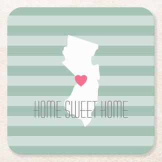 Amor del estado de origen del mapa de New Jersey Posavasos De Cartón Cuadrado