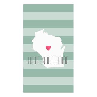 Amor del estado de origen del mapa de Wisconsin Tarjetas De Visita