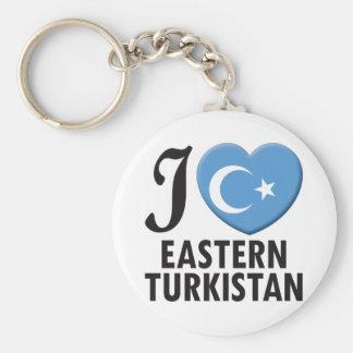 Amor del este de Turkistan Llavero Redondo Tipo Pin