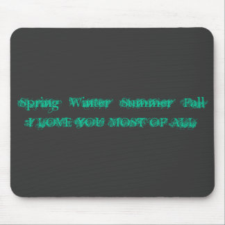 AMOR del *FallI del *Summer del *Winter de la prim Alfombrilla De Raton