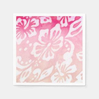 Amor del fiesta de Luau de la flor del hibisco del Servilletas Desechables