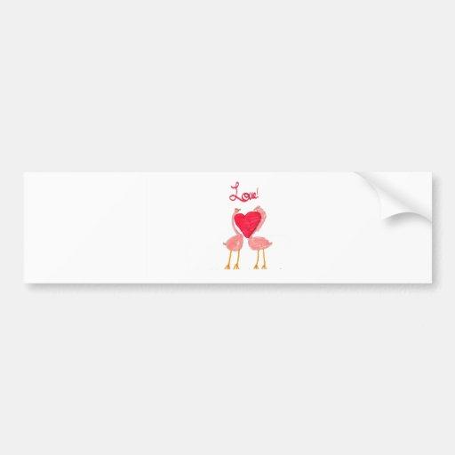 Amor del flamenco etiqueta de parachoque