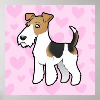 Amor del fox terrier del alambre póster