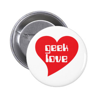 Amor del friki por el diseño de Genepool Pin Redondo 5 Cm