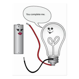Amor del friki usted me termina circuito eléctrico postales