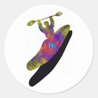 AMOR del fundamental del kajak Pegatina Redonda