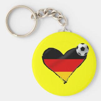 Amor del fussball de Alemania - fútbol del alemán  Llavero Redondo Tipo Pin