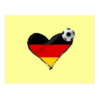 Amor del fussball de Alemania - fútbol del alemán Postales