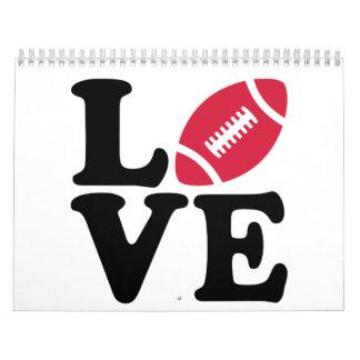 Amor del fútbol calendarios de pared