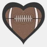 Amor del fútbol calcomania de corazon personalizadas